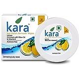 Kara Wipes Nail Polish Remover With Vitamin Removes Nail Polish, Lemon (30 Pulls) x ( Pack Of 3 )