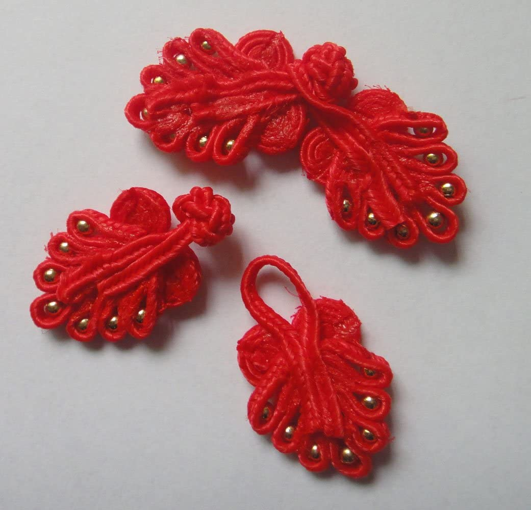 Lyracces 10pair Handmade Sewing Fasteners Chinese Closure Knot Cheongsam Frog Buttons Light Rose