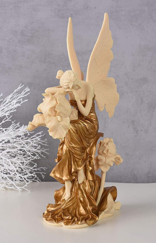 Figur Engel auf einem Buch romantisch Deko Skulptur