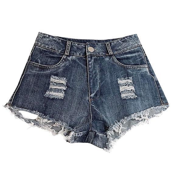 Vectry Leggins Vaqueros Rotos Mujer Pantalones Cortos Mujer ...