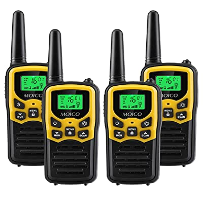 Walkie Talkies Long Range for Adults Two-Way Radios Up to 5 Miles in Open Fields 22 Channels FRS/GMRS VOX Scan LCD Display with LED Flashlight Ideal for Field Survival Biking Hiking Camping 4 Pack: Electronics