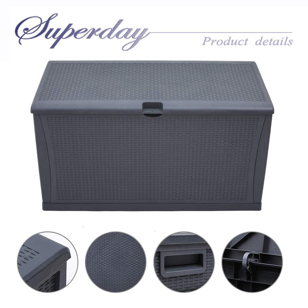 Amazon.com: Superday - Caja de almacenamiento de mimbre ...