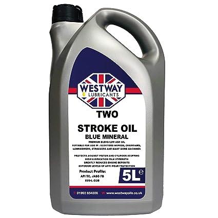 2 tiempos aceite mineral dos tiempos aceite teñida de azul 5 ...