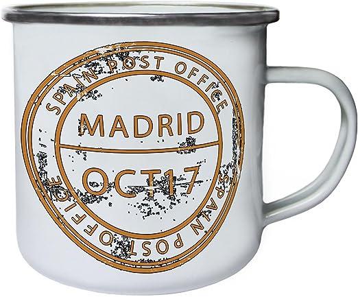 Nuevo Sello De La Oficina De Correos De España Retro, lata, taza del esmalte 10oz/280ml m253e: Amazon.es: Hogar