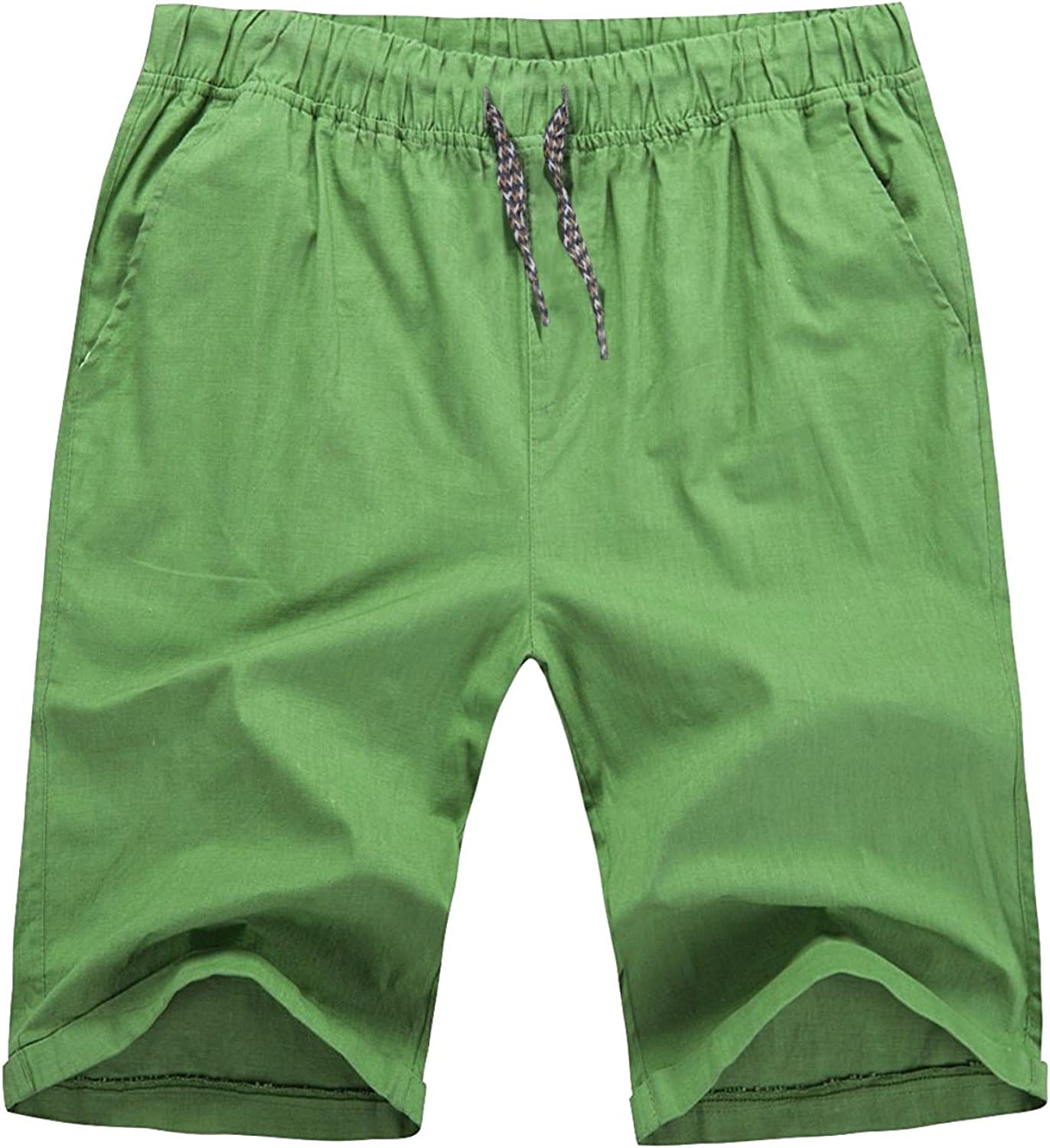 Hat and Beyond Mens Flat Front Summer Shorts Casual Twill Classic Fit