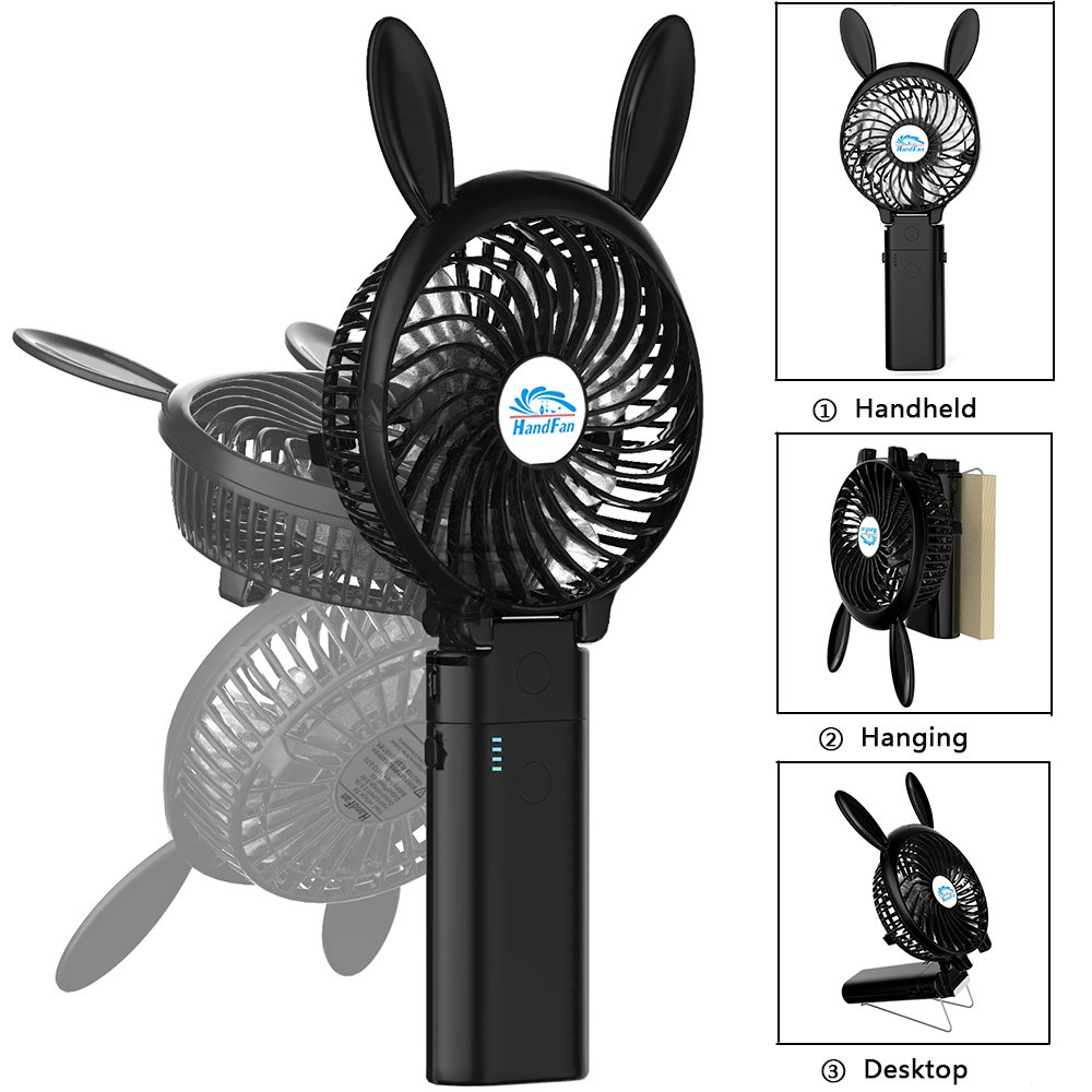 Handfan Portable Handheld Fan Mini Hand Small Desk Products Humidifiers Water Bypass Powerfan Folding Change 4 16 Hours Working Time Personal Rechargeable Battery Usb