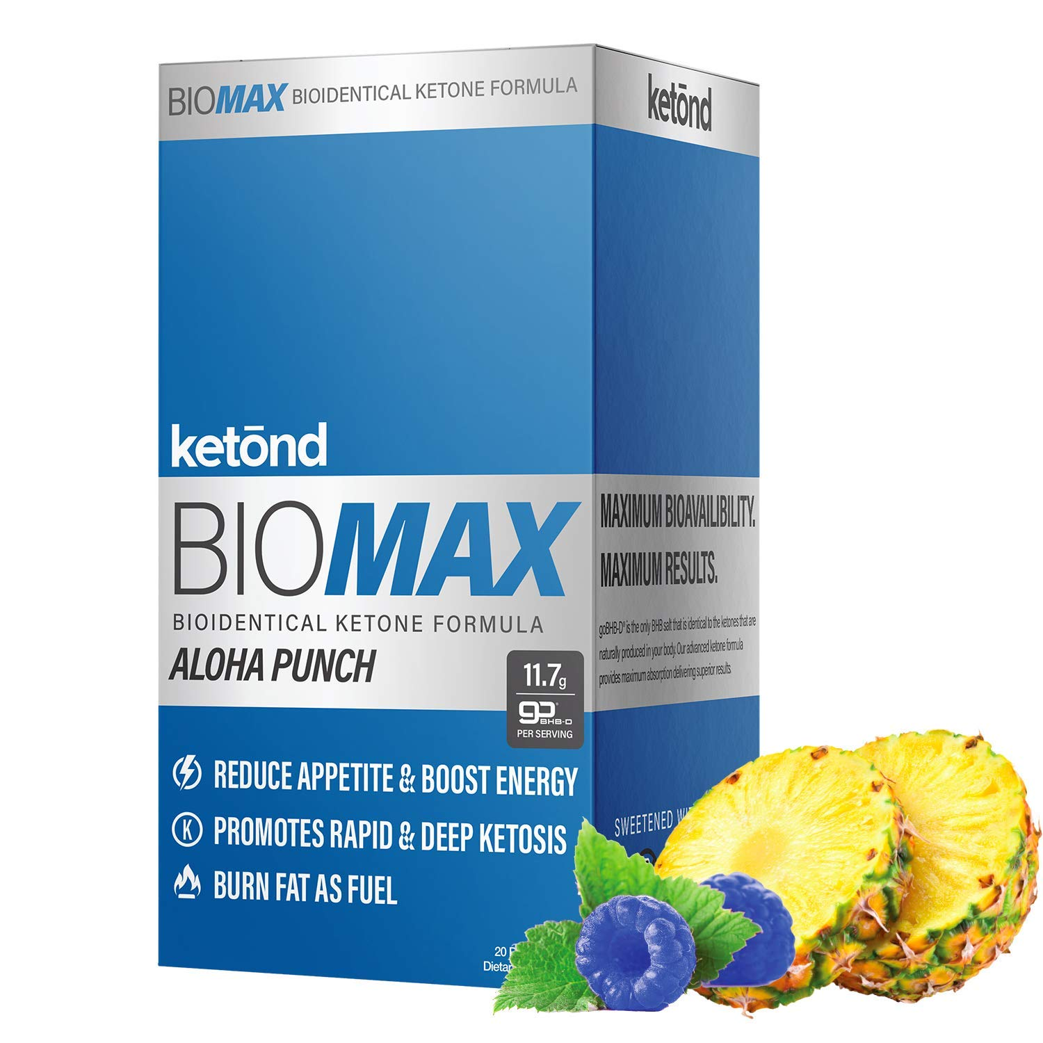 Ketōnd BioMAX - 20 'on the go packs' 11.7g of goBHB-D - the first of its kind all-natural ketone that is BIOLOGICALLY IDENTICAL to the ketones your body makes! (Aloha Punch) by Ketond Nutrition (Image #1)