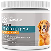 TRUSTWELL PAWMEDICA Glucosamine for Dogs, Joint Care Chews for Dogs, Joint Supplements with Hemp, Glucosamine, Chondroitin for Dog Hip and Joint Support - 120 Glucosamine Chondroitin Chews for Dogs