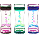BESTOMZ 3 Pack Liquid Motion Timer Bubbler for Sensory Play, Fidget Toy