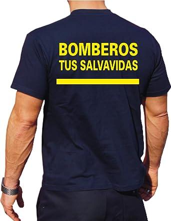 T-Shirt/Camiseta (Navy/Azul) Bomberos Tus Salvavidas, Fuente ...