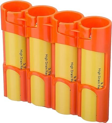 Storacell Powerpax – Pack de batería 18650 Caddy, Naranja, Pack de ...
