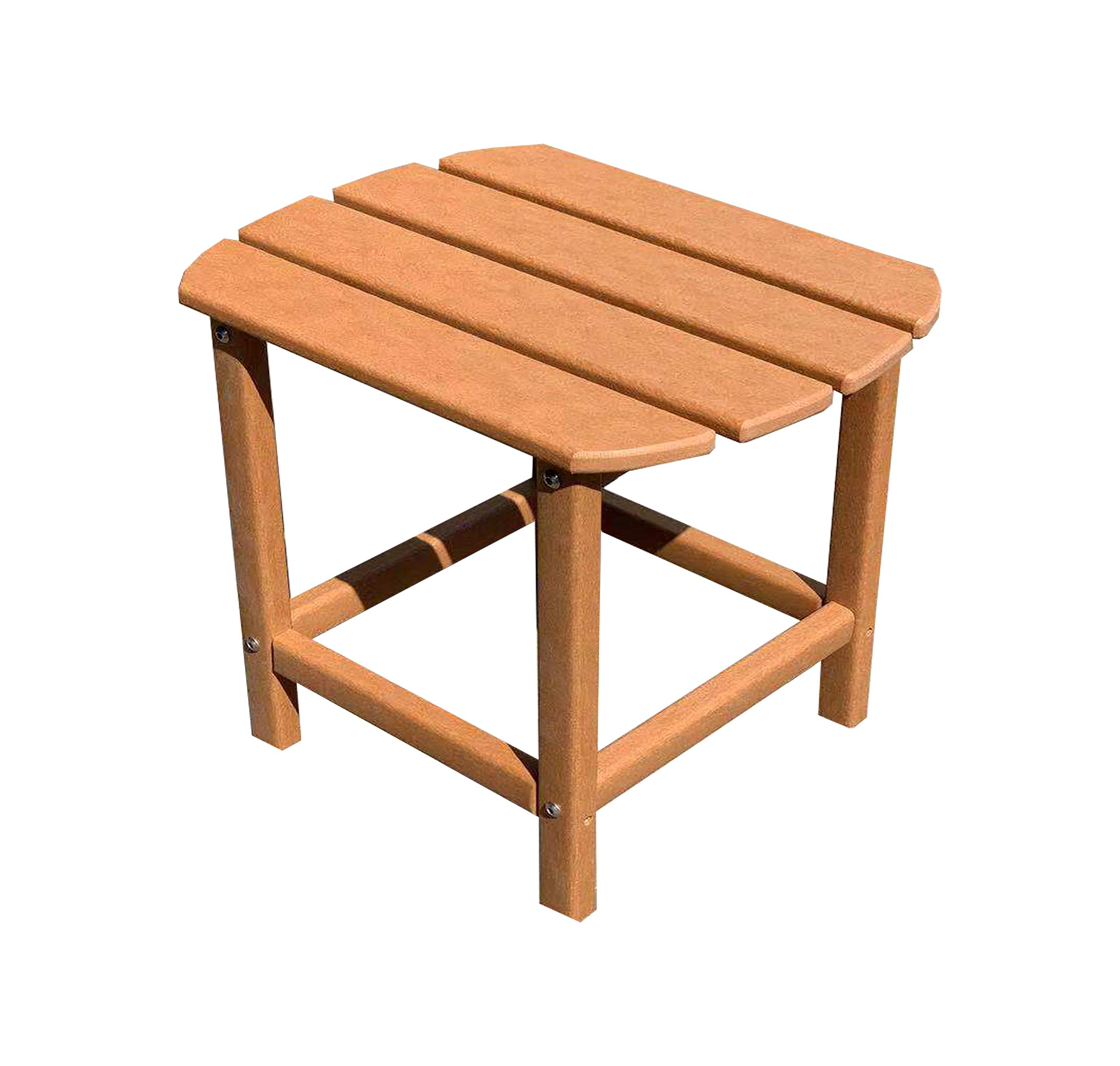 LuXeo LUX-1520-TEK-ST Corona Recycled Plastic Side Table, Teak by LuXeo
