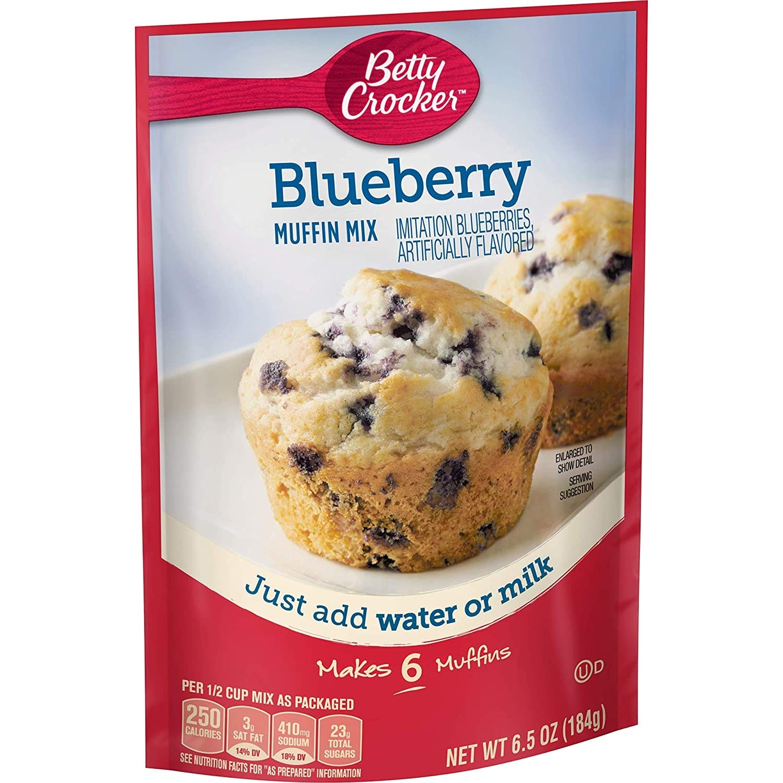 Betty Crocker Blueberry Muffin Mix 6.4 Oz Packet (Pack of 6) (Blueberry)