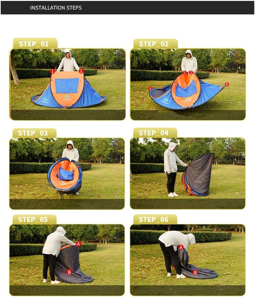 WOHO 2 Persona Pop-up Carpa, automática Tienda de campaña portátil, al Aire Libre Sun Refugio con Carry 245x145x110cm protección UV Bolsa,Verde Orange
