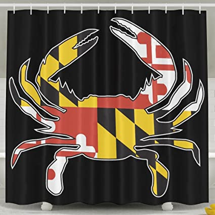 Amazon Maryland State Flag Crab Shower Curtains Home Kitchen