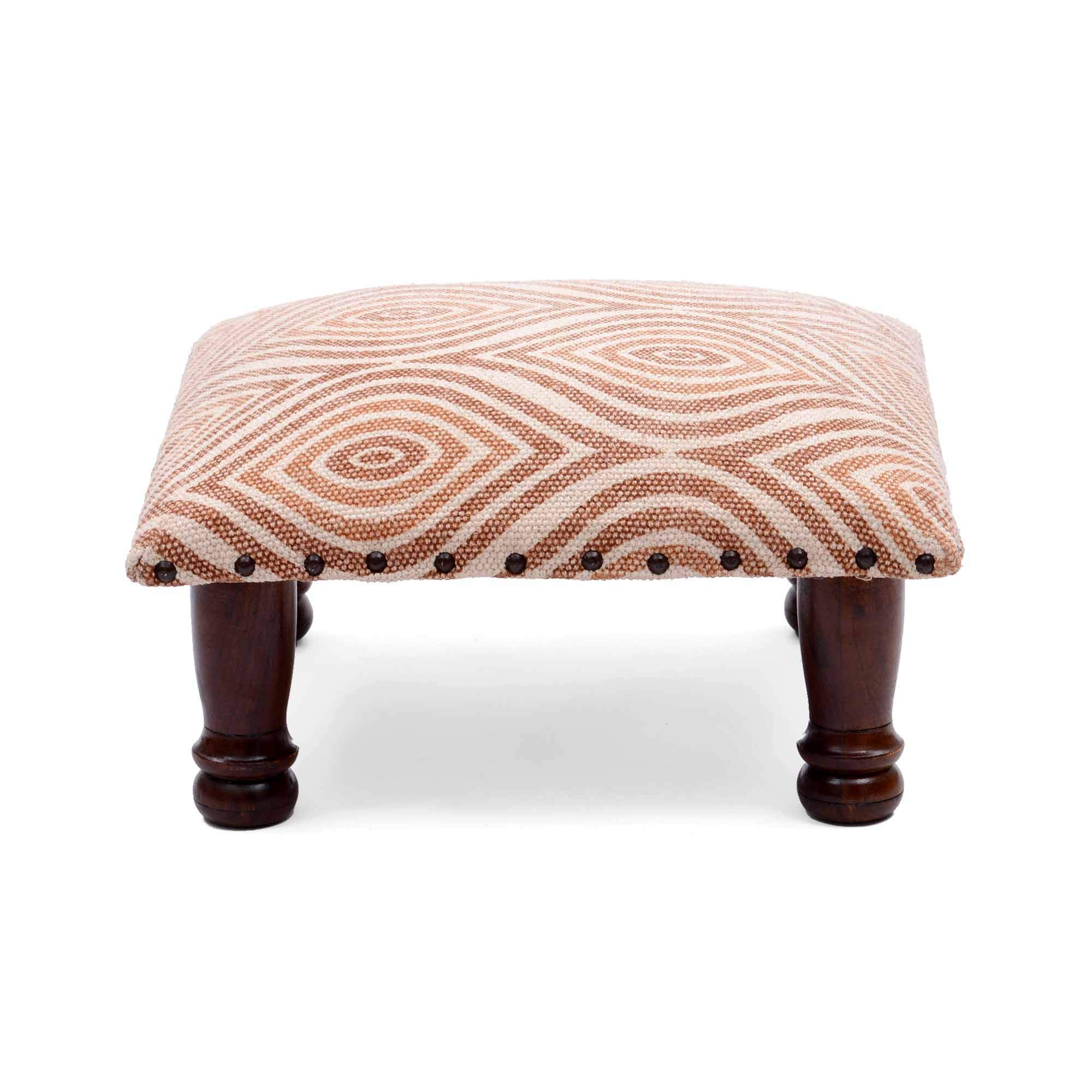 Natural Furnish 100% Cotton Medium Size Living Room Poufee and Foot Stool by Natural Furnish