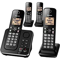 Panasonic 4-Handset Single-Line DECT 6.0 Phone With Answering Machine