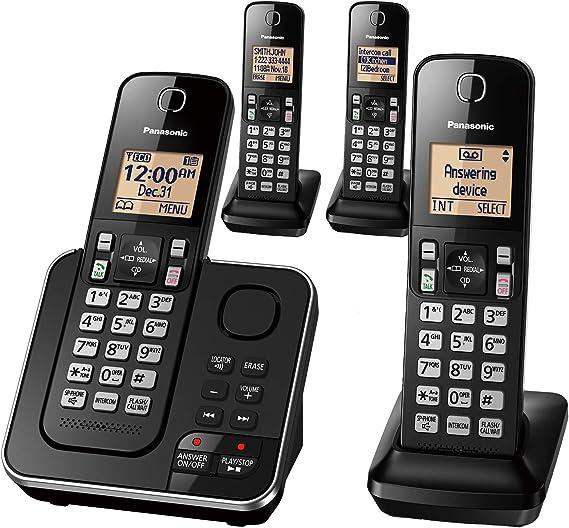 Panasonic KX-TGC364B DECT 6.0, 4 teléfonos móviles: Amazon.es: Electrónica
