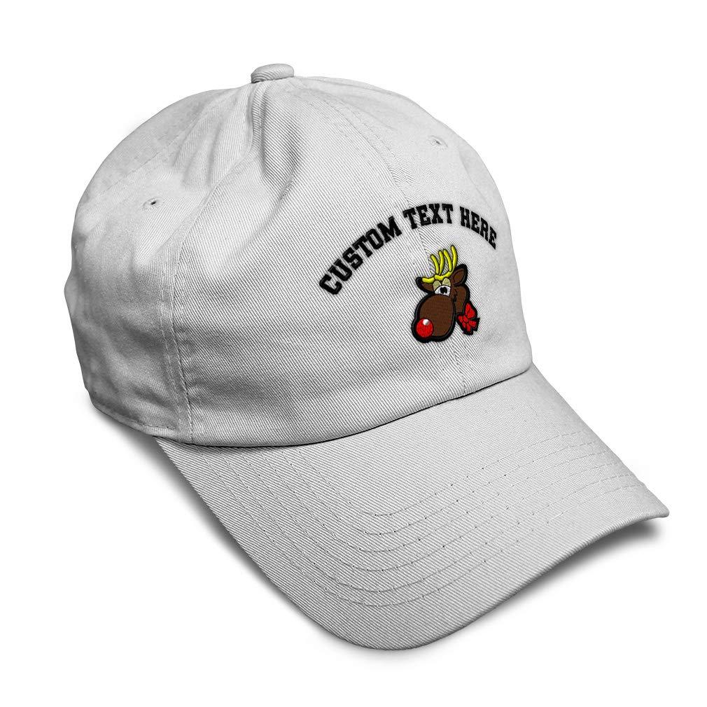 Custom Soft Baseball Cap Christmas Reindeer B Embroidery Twill Cotton