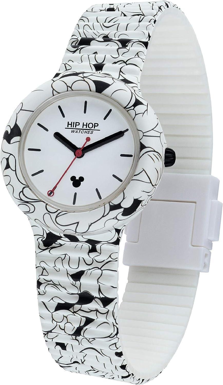 Hip Hop Watches - Reloj Unisex - Edición Especial Aniversario de Mickey Mouse - Colección Retro Mickey - Correa de Silicona - Caja de 35mm - Impermeable