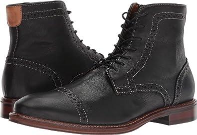 c8f957b22 Amazon.com | Johnston & Murphy Mens Warner Cap Toe Zip Boot | Boots