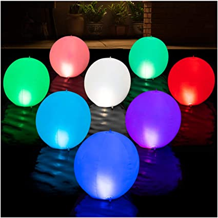 Hot Tub Christmas Garden Swimming Pool 3-inch IP67 Waterproof RBG 16 Color Changing LED Lights Party Ideal Decor for Pond Pool 1Pack Beach Chakev Floating Pool Lights