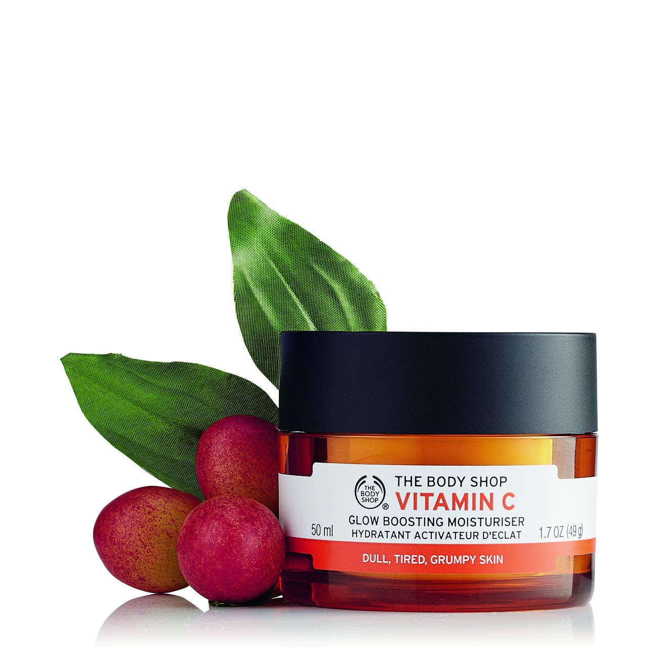 The Body Shop 1080375 Vitamin C Glow Boosting Moisturizer, 1.7 Oz