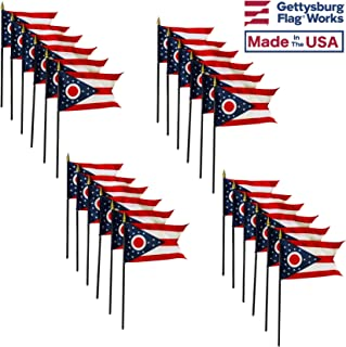 product image for 4x6 E-Gloss Ohio Stick Flag - Flag Only - Qty 24