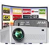 Native 1080P Projector, 2021 Upgrade 7500 Lux Movie Projector 4K Video Support,100000 Hours Life Indoor and Outdoor Projector