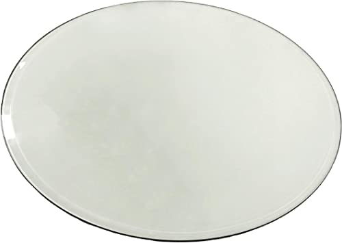 Milan 1 2 Thick with 1 Bevel Edge Round Glass Top, 54 , Clear