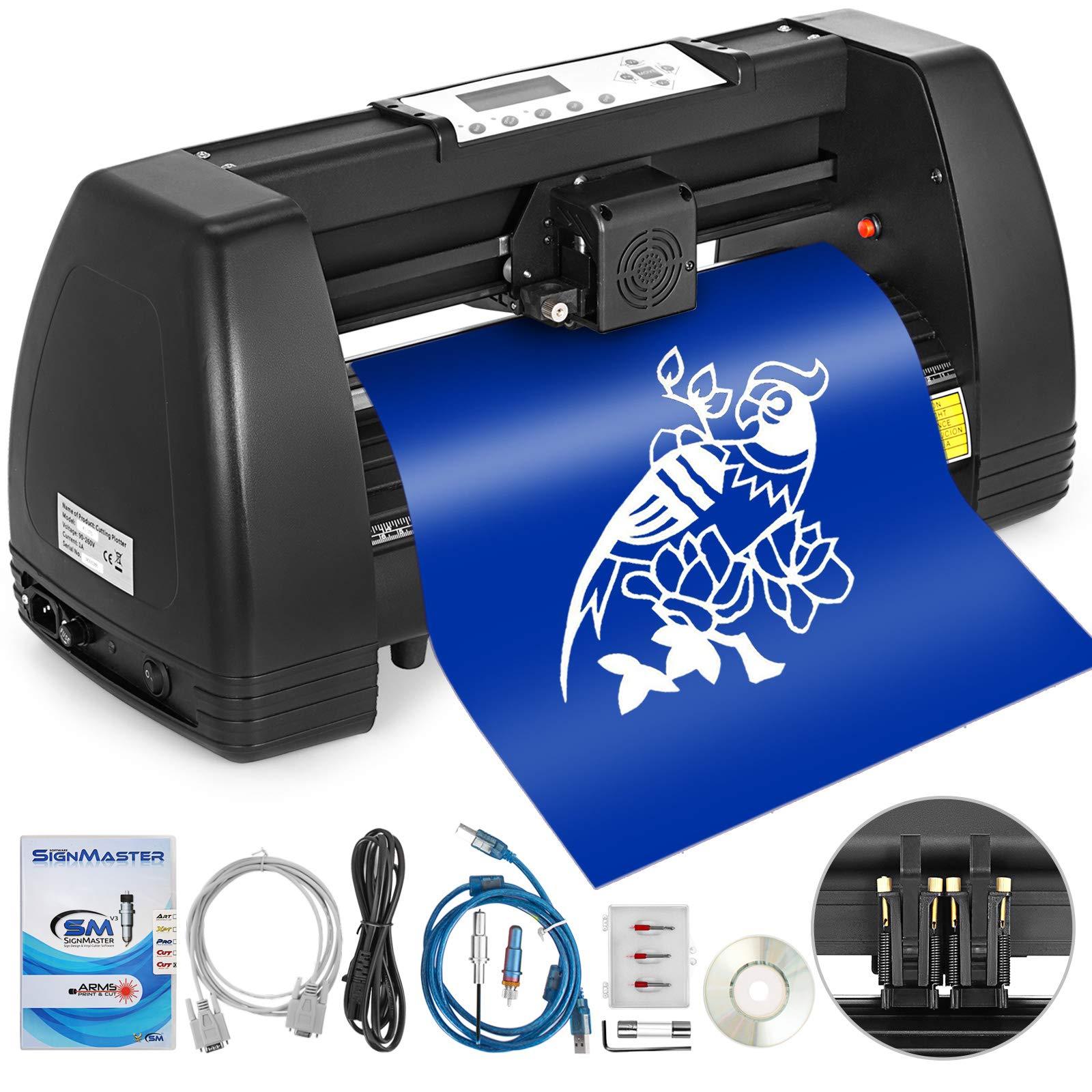 VEVOR Vinyl Cutter 14 Inch Plotter Machine 350mm Paper Feed Vinyl Cutter Plotter Signmaster Software Sign Making Machine (14Inch Style 2) by VEVOR