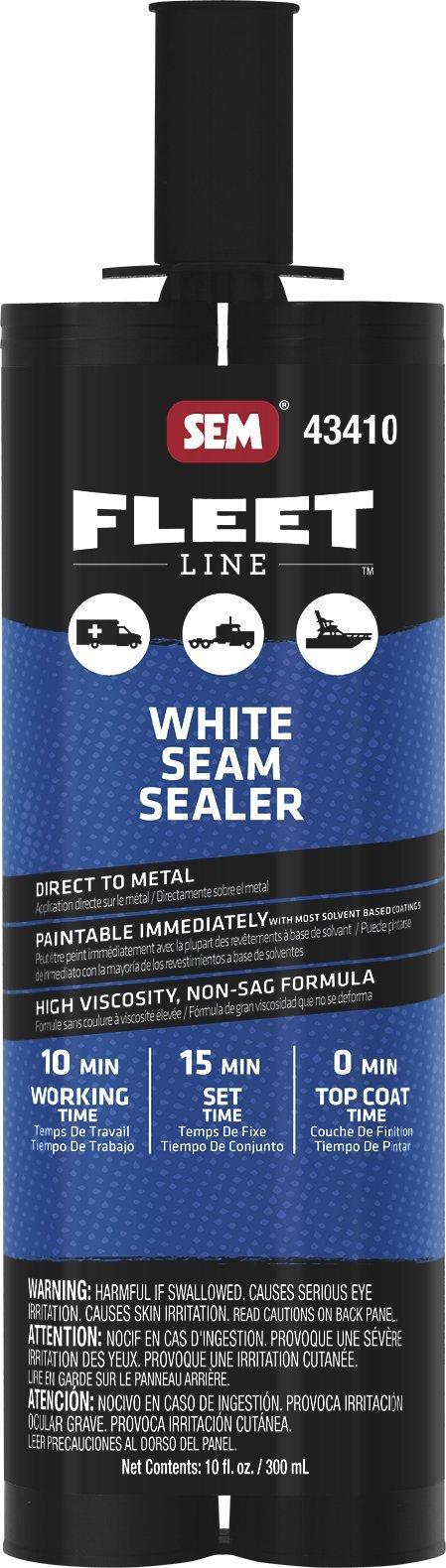 SEM 43410 White Seam Sealer, 10 oz.