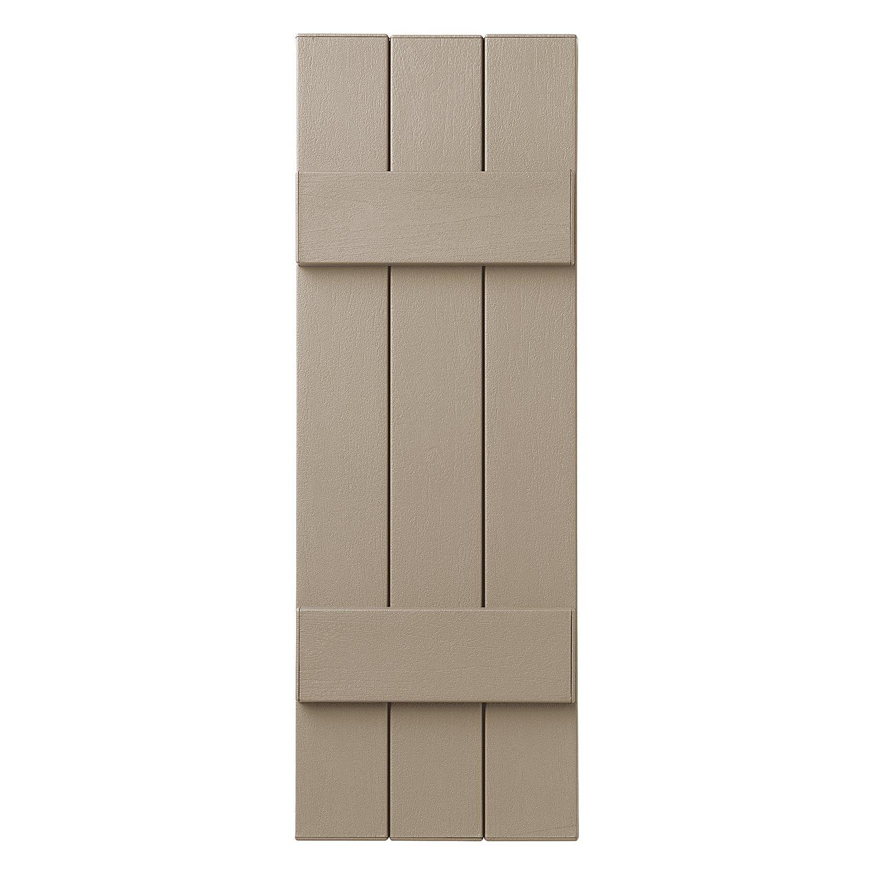 Ply Gem Shutters and Accents VIN3C1135 33 3 Board Closed Board /& Batten Shutter Black