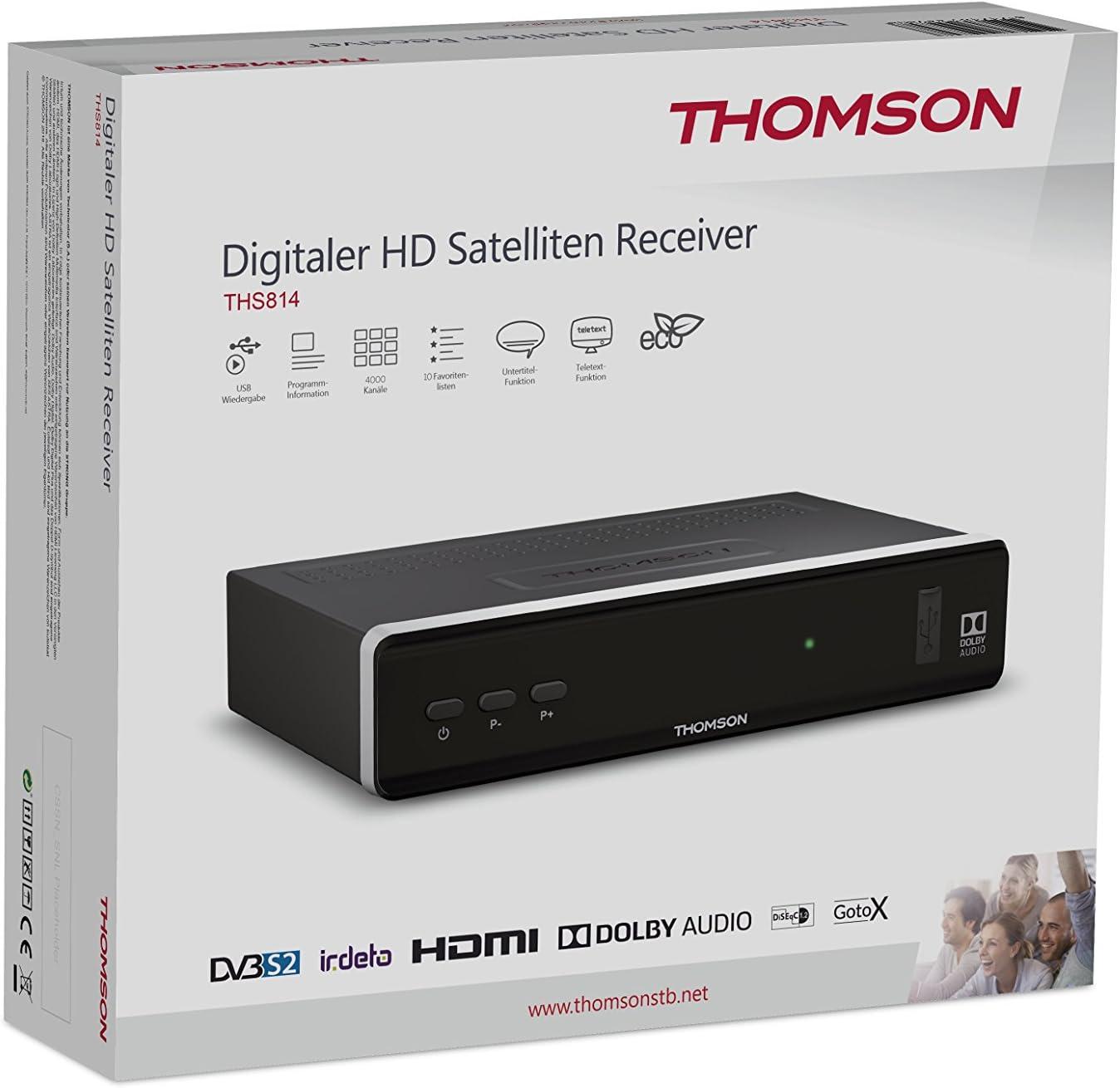 Thomson ths814 – Receptor satélite Digital Negro: Amazon.es: Electrónica