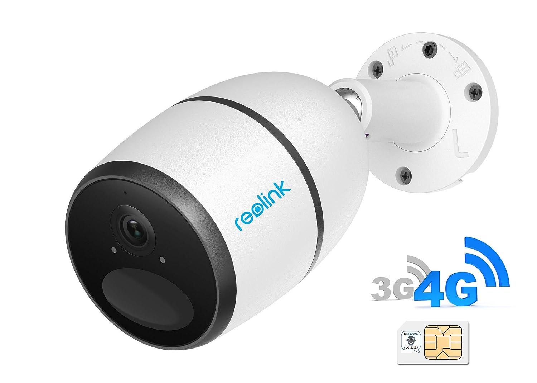 Camara IP 3G/4G -con tarjeta SIM de móvil- de videovigilancia 100% inalámbrica (con batería recargable) FullHD 1080p, visión nocturna y detección de ...