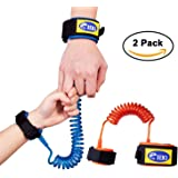 HIG Anti Lost Wrist Link for Child & Babies Toddler Safety, Harnesses & Leashes Walking Hand Belt Straps (4.9ft Orange + 8.2ft Blue)