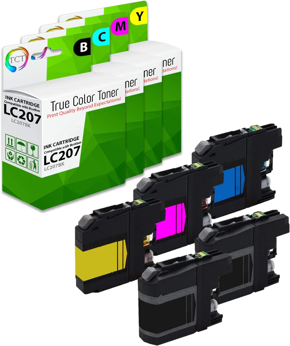 20 Pack Smart Print Supplies Compatible LC207 LC205 LC207BK LC205C LC205M LC205Y Ink Cartridge Replacement for Brother MFC-J4320DW J4420DW J4620DW Printers Black, Cyan, Magenta, Yellow