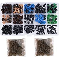 Includes 170Pcs Colorful Plastic Safety Eye and 110Pcs Nose with 280Pcs Washer Multiple Sizes for Doll Plush Animal and Teddy Bear Craft Making WUXL 560Pcs Black Plastic Safety Eyes and Safety Noses