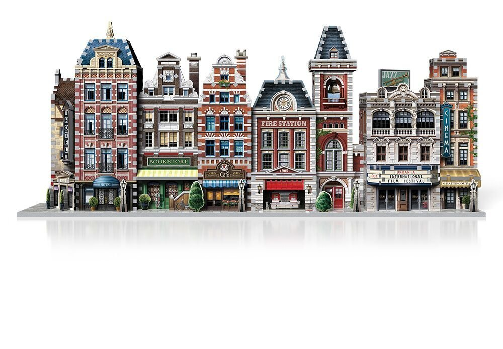 Cinema Urbania, 300 Piece 3D Jigsaw Puzzle Made by Wrebbit, Part of The Urbania Collection W3D-0502