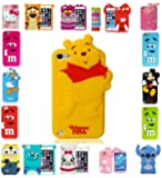EAGLE® New 3D Kids Cartoon Disney Silicone Rubber Gel Back Case For Apple iPhone 5 5s (Winnie The Pooh)