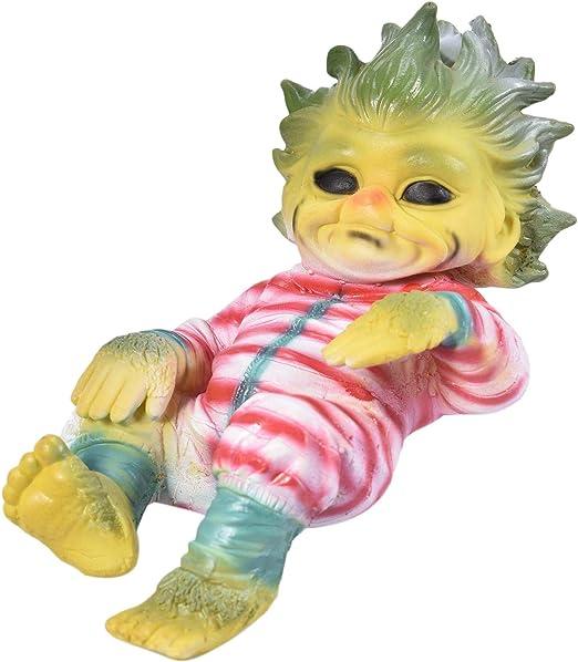 DHFD Weihnachten Reborn Baby Grinch Toy 20cm Babypuppen Grinch Toy Realistische Cartoon Prom-Note Reborn Baby Realistische Cartoon Puppe Weihnachts Simulations Puppe
