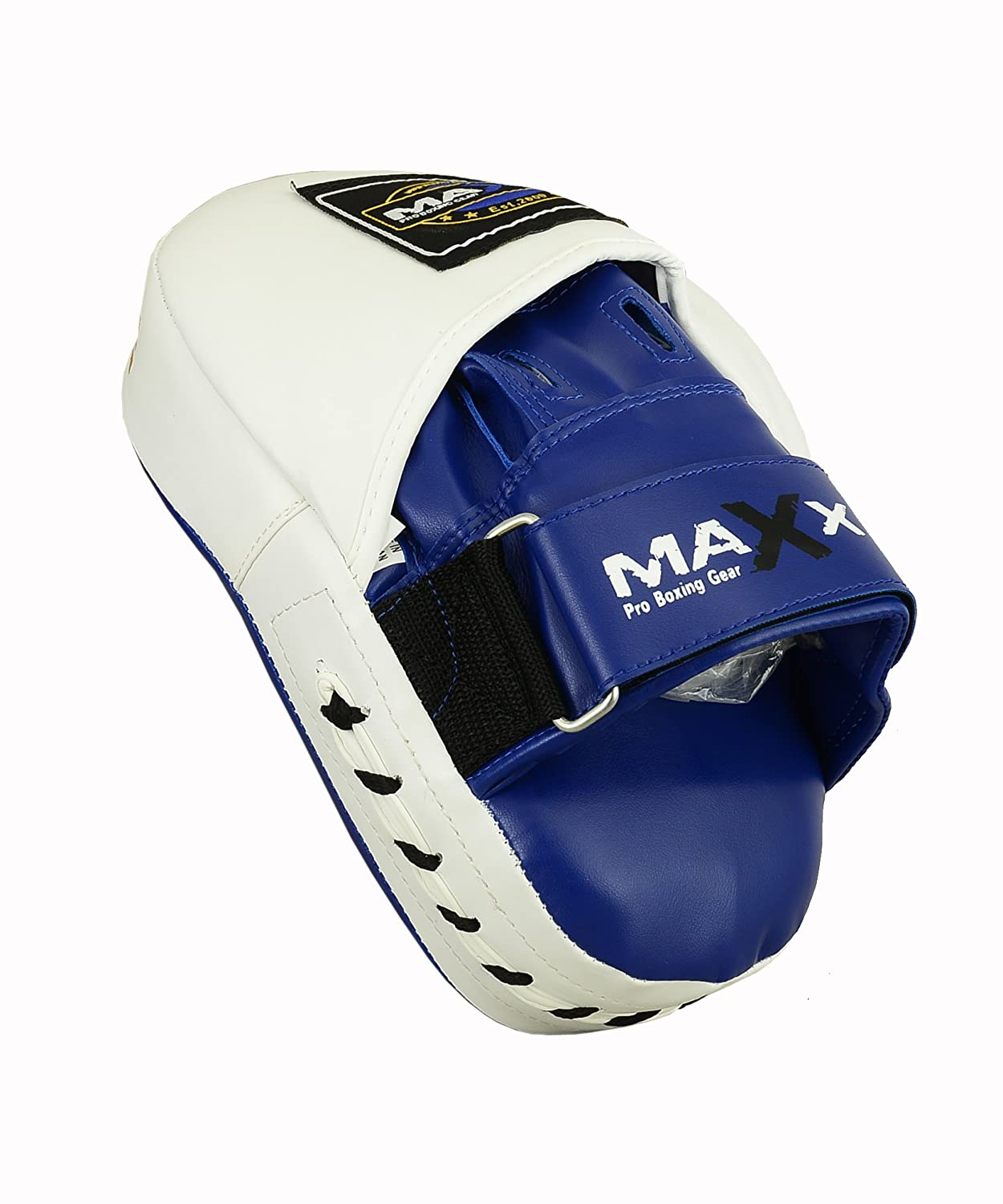 Maxx Rex Leather Curved Focus Pads MMA Boxing PINK Black White Red Blue Martial ART Kick Boxing