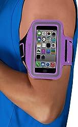 Brassard StilGut pour iPhone SE & 5/5s, Galaxy S4 mini, LG G2 mini (appareils 4 pouces), pourpre