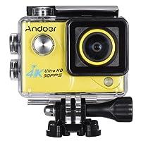 Andoer 4K 30FPS 1080P 60FPS Pieno HD DV 2.0in LTPS Wifi LCD Schermo Impermeabile 170 ° Grandangolare Outdoor Action Sport Camera Videocamera Digitale Cam Video Car DVR