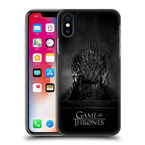 low priced f4e33 0c6da Official HBO Game of Thrones Iron Throne Key Art Hard Back Case for iPhone  X/iPhone Xs