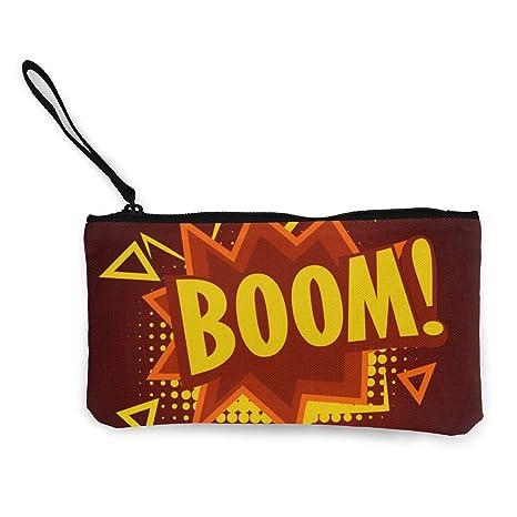 Wrution Boom - Monedero de Lona con Cremallera, tamaño ...