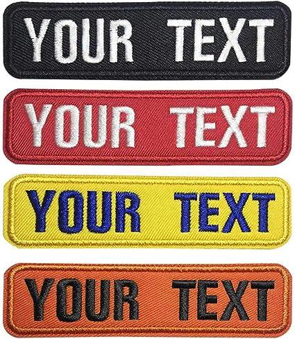 Parche De Velcro Bordado Con Nombre Personalizado 2 Unidades De Etiquetas De Identificación A Medida Con Nombre Y Logotipo Para Chamarras Y Camisas De Trabajo O Bolsas De Ropa Arte Manualidades