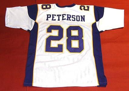 Amazon.com: ADRIAN PETERSON WHITE MINNESOTA CUSTOM STITCHED NEW ...