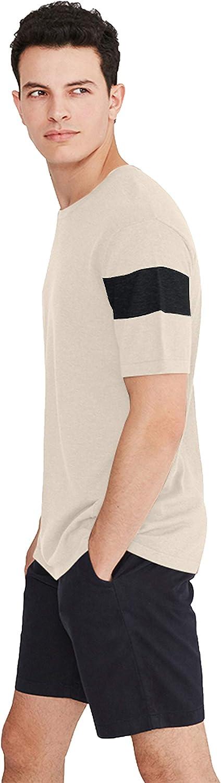 State Cashmere Men's Crew Neck Short Sleeve Cotton Cashmere T-Shirt
