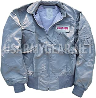product image for Made in USA Alpha US Air Force CWU-36/P Lightweight Mil-Spec Jacket S Small Sage Green